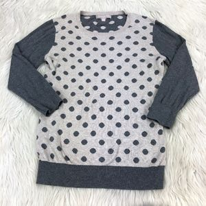 Banana Republic Crew Neck Polka Dot Sweater